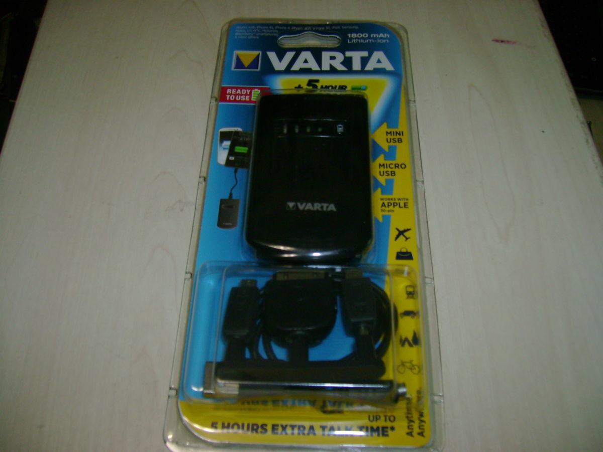Фото - Универсальная мобильная батарея 1800 mAh, Varta, Black (Power Bank)