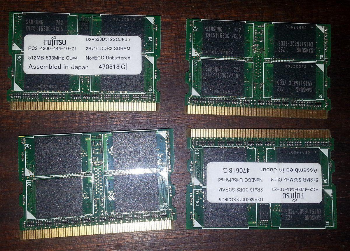Фото - MicroDIMM микро димм DDR2 512MB Panasonic Fujitsu