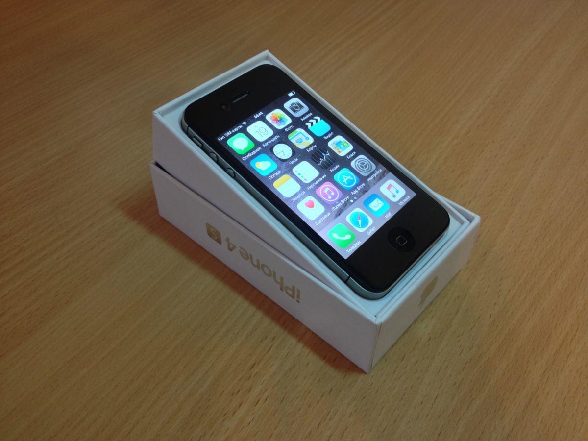 Фото 2 - Iphone 4S 16GB Black New,Original,NeverLock+Gifts.Бесплатная доставка