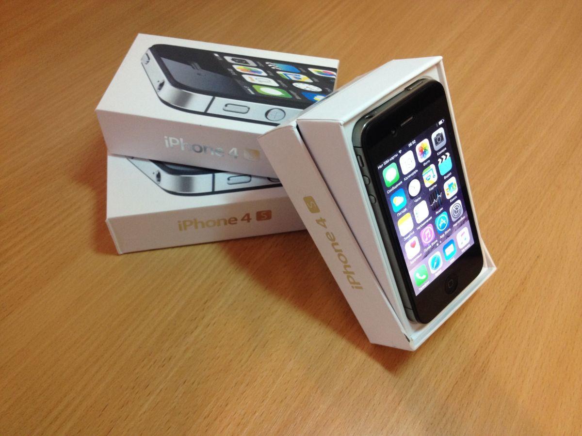 Фото - Iphone 4S 8GB Black New,Original,NeverLock+Gifts. Бесплатная доставка