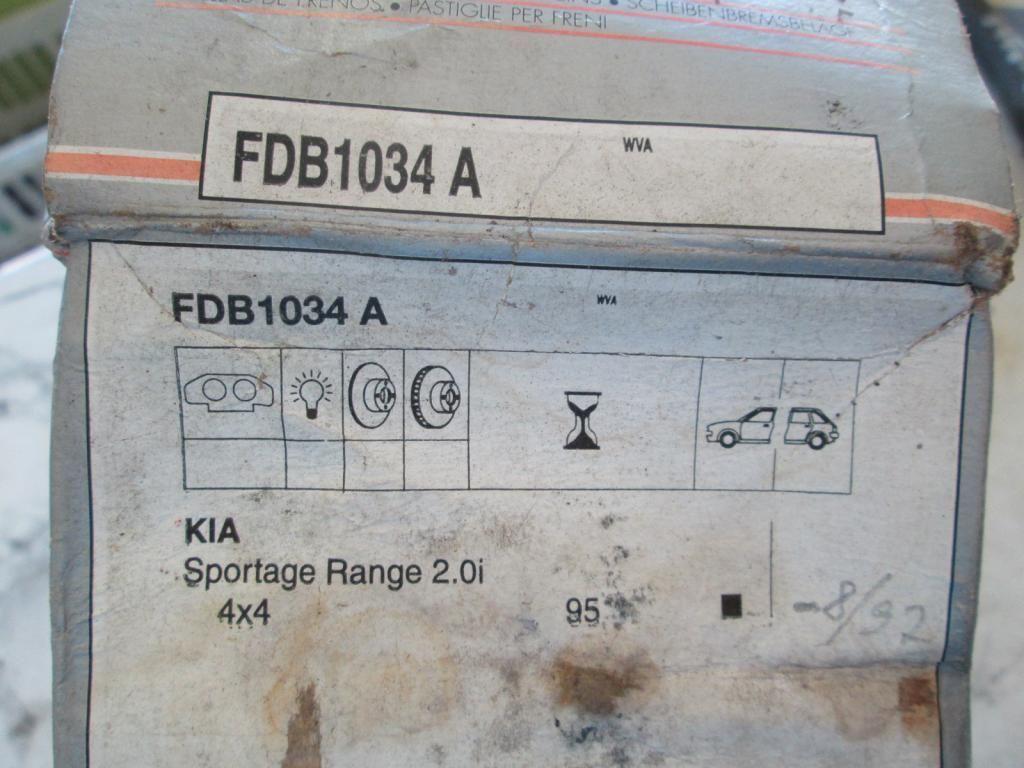 Фото 2 - Тормозные колодки Kia Sporage 4WD 94-03 Ferodo