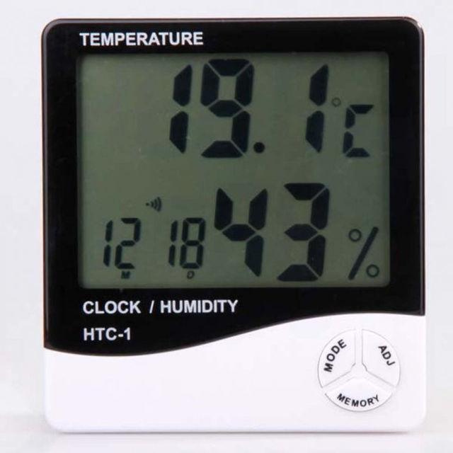 Фото - Часы, будильник, термометр, гигрометр.