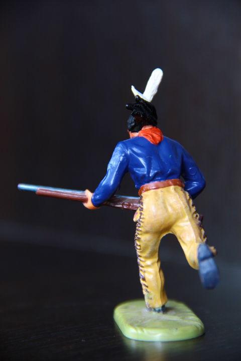 Фото 3 - индеец, кавалерист  (ELASTOLIN) 70мм конверсия