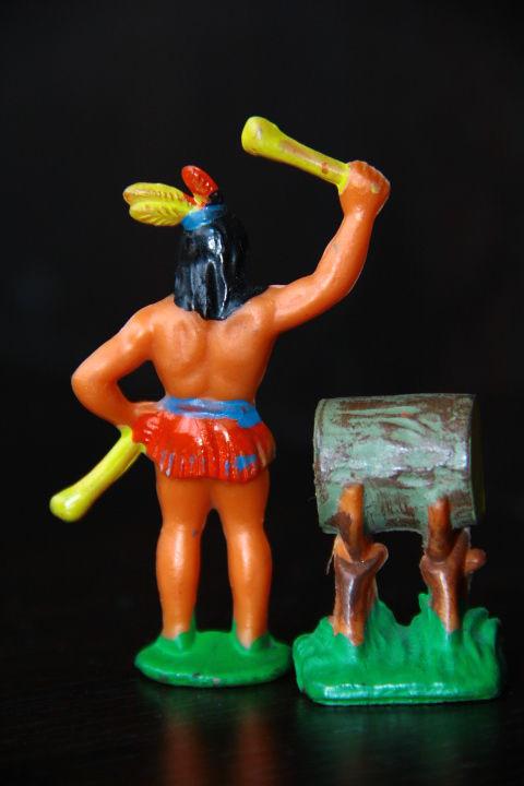 Фото 4 - индейцы ковбои ГДР ( № 056) редкая расцветка !!