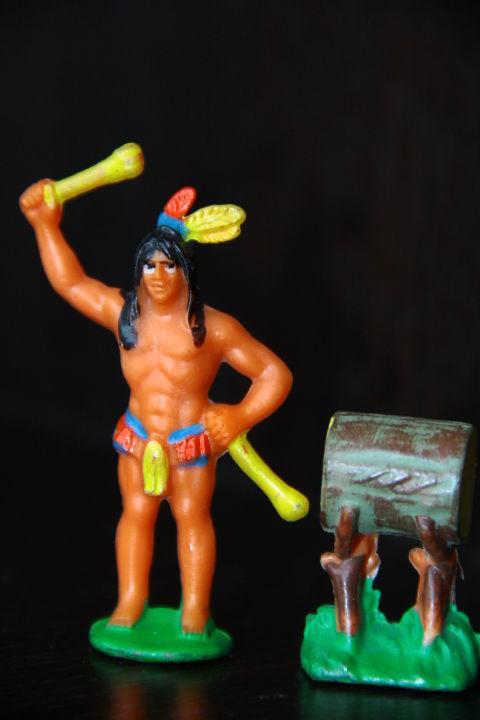Фото 3 - индейцы ковбои ГДР ( № 056) редкая расцветка !!