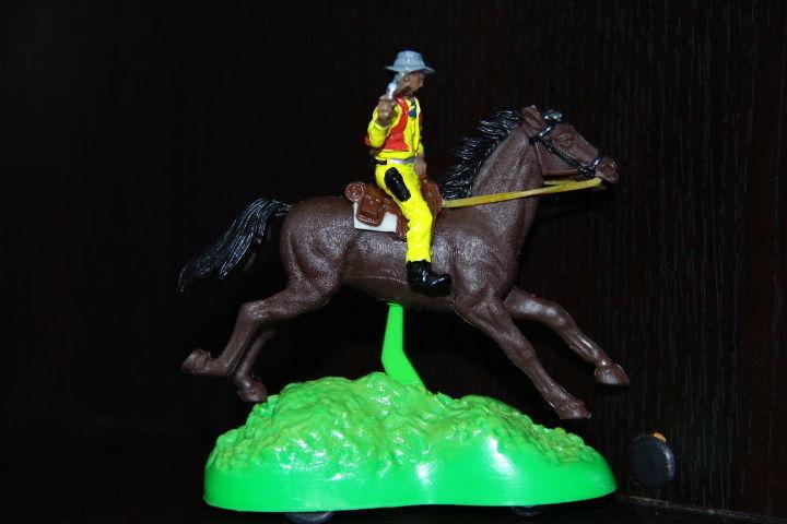 "Фото - ковбой на лошади""W.Britains""54мм"