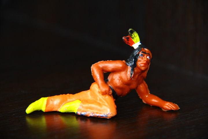 Фото - индейцы ковбои ГДР ( № 035) редкая расцветка