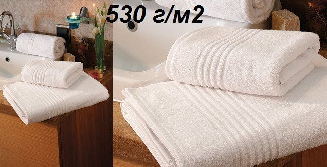 Фото - Белые махровые полотенца для гостиниц, отелей, парикмахерских