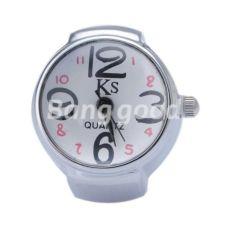 Часы - Кольцо на палец. Белый + Черные стрелки