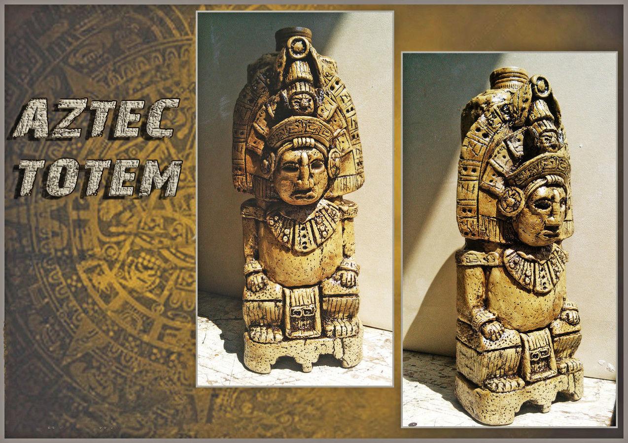 """Бутылка в мексиканском стиле """"Аztec totem"""", сувениры ручной работы"""