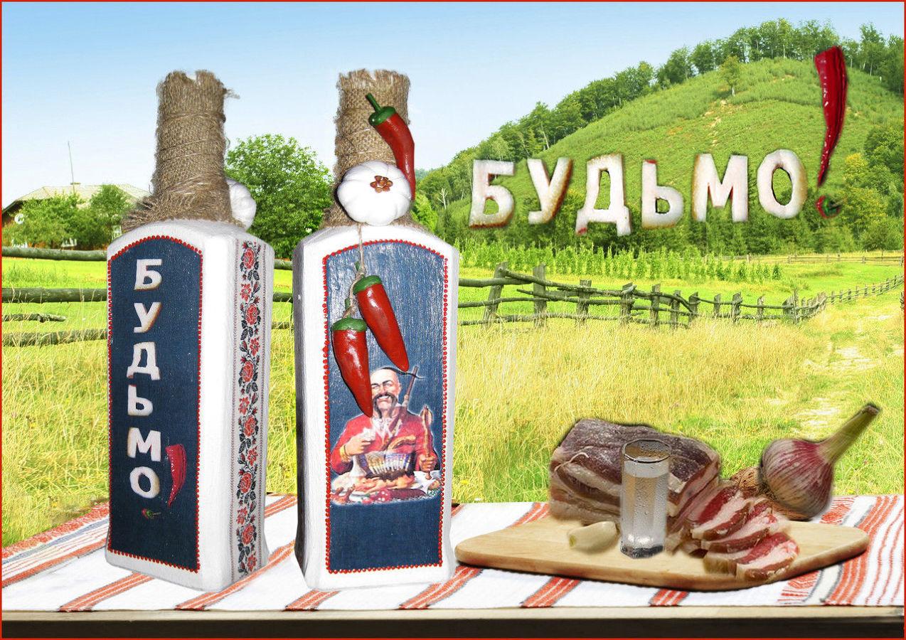 Оформление бутылки в украинском стиле будьмо украинский сувенир
