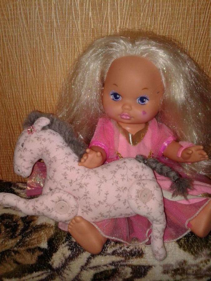 Фото 6 - Кукла с лошадкой ручной работы