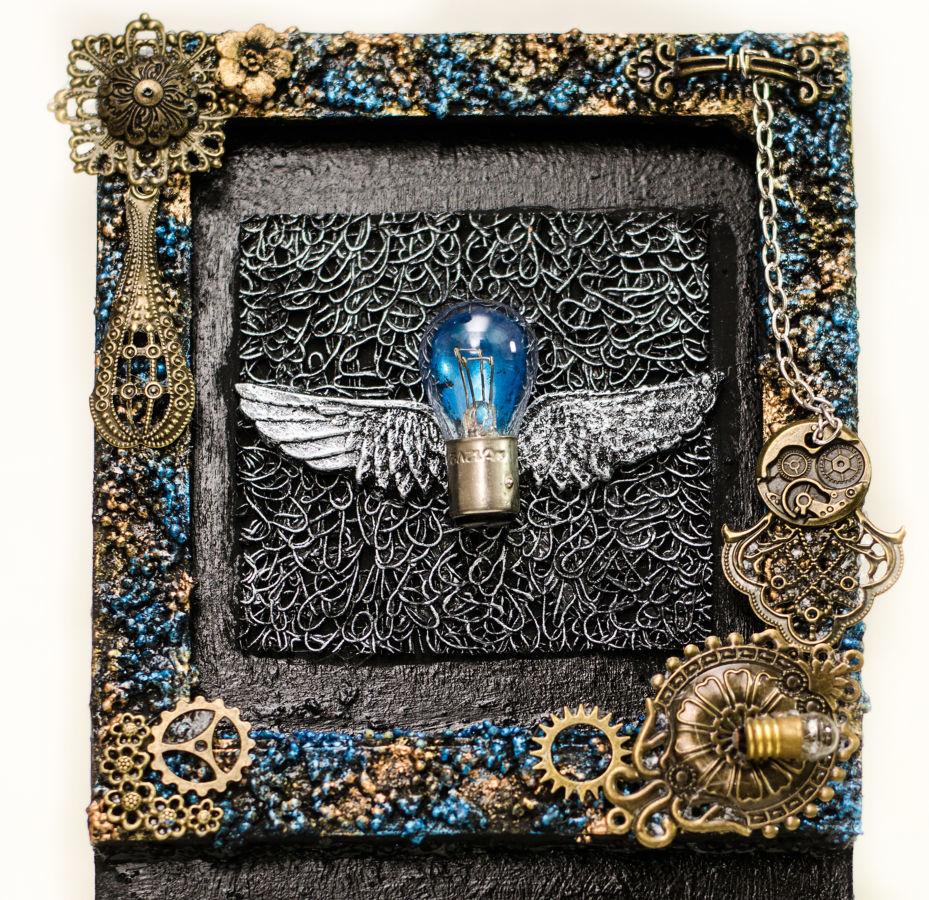 Фото 3 - Оригинальная настенная ключница ручной работы, ключницы хенд мейд