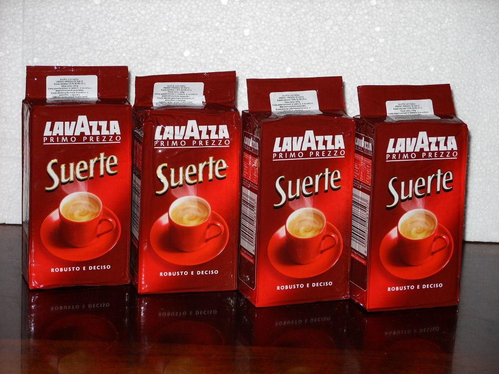 Кофе Lavazza SUERTE (4х250гр)