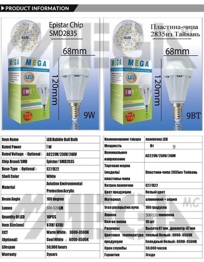 Фото 6 - Лед Светодиодные лампы LED от 3 до 18 ватт.Высокое качество!