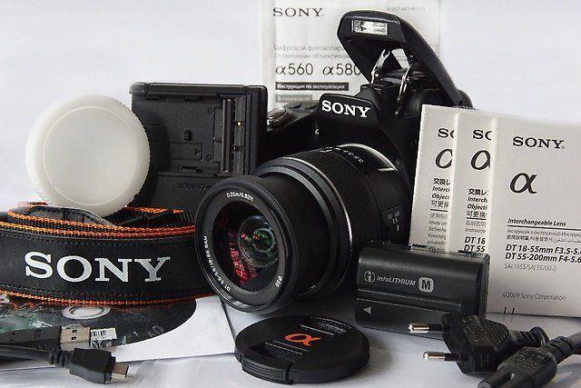 Фото - Продам цифровой зеркальный фотоаппарат Sony A450