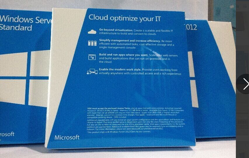 Фото 3 - Windows Server 2012 Standart BOX P73-05363