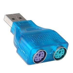 Адаптер 2 PS/2 в USB 2.0 (клавиатура, мышь) переходник