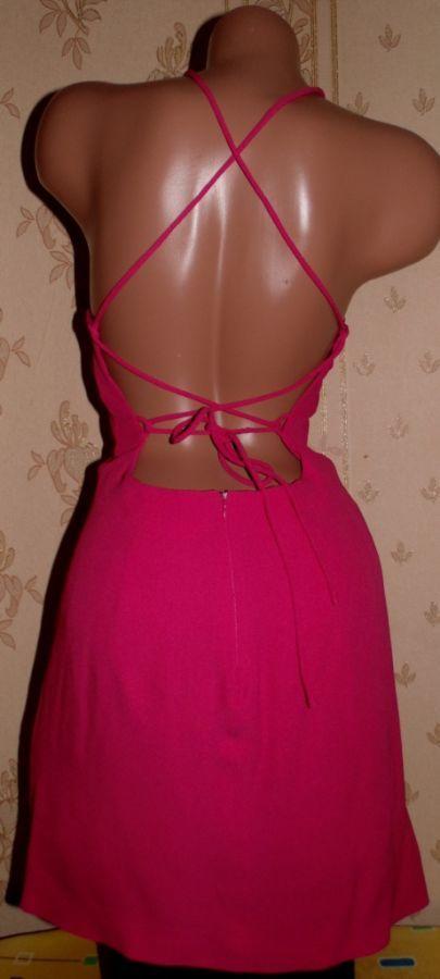 Бомбезное малиновое секси-платье 44р.Франция