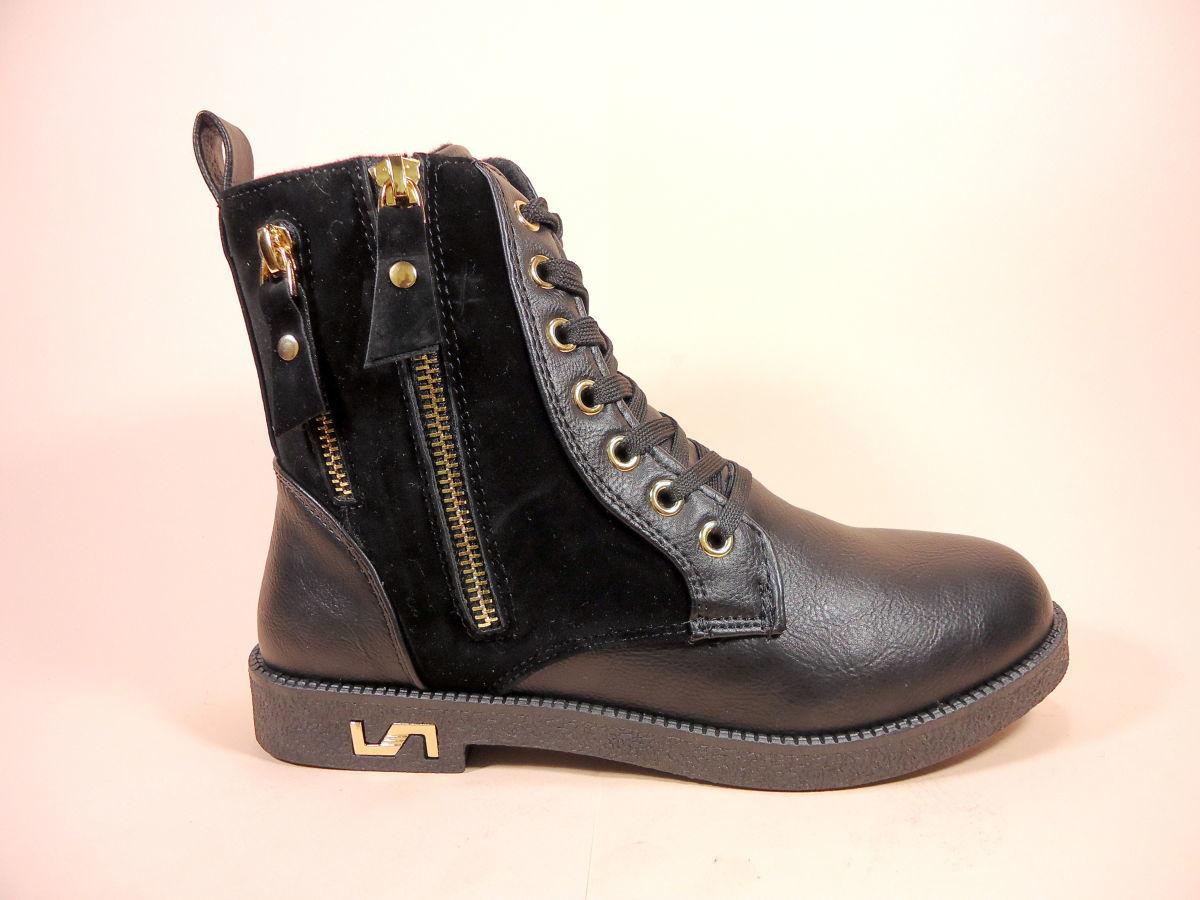 8372434b Демисезонные женские ботинки на шнуровке и молнии. Размеры 36-41 ...