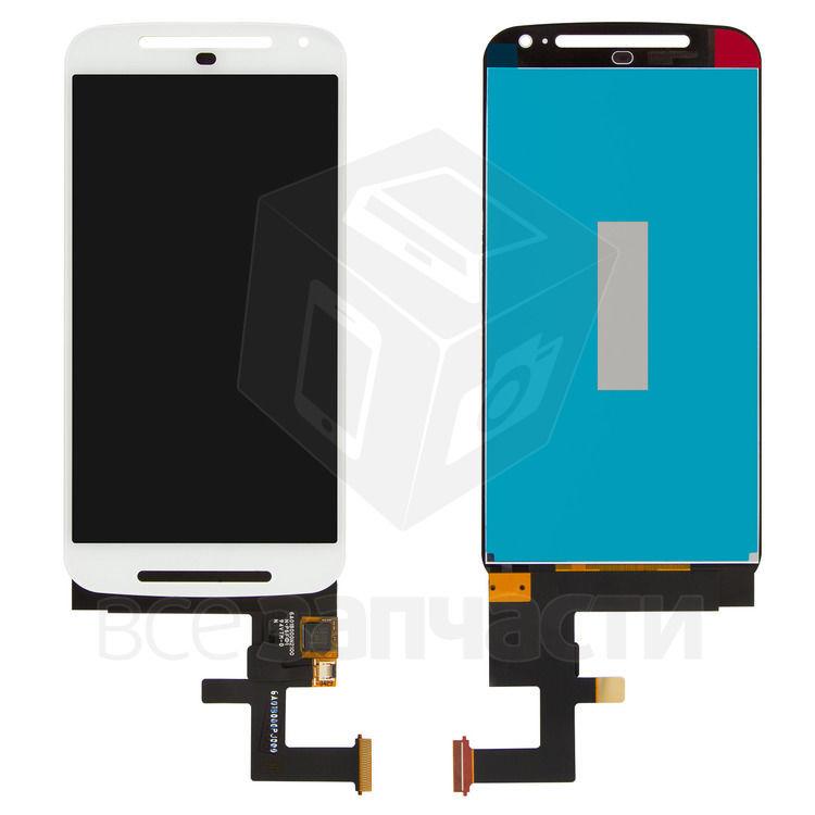 Фото - Дисплейный модуль Motorola XT1062 Moto G2, XT1063 Moto G2,XT1064,белый