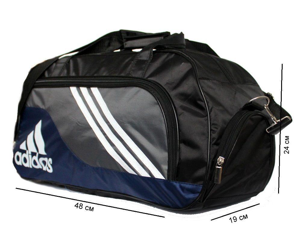 Фото 2 - Мужская спортивная дорожная сумка под Adidas (707)