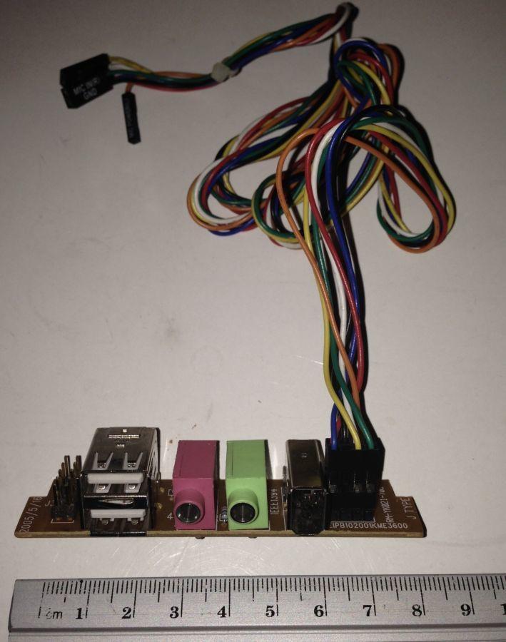 Фото - Корпусная фронт панель (USB+1394+Звук) тип 2-2