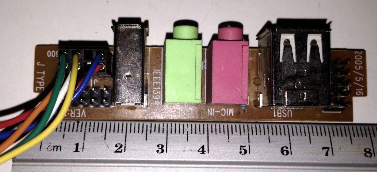 Фото 2 - Корпусная фронт панель (USB+1394+Звук) тип 2-2