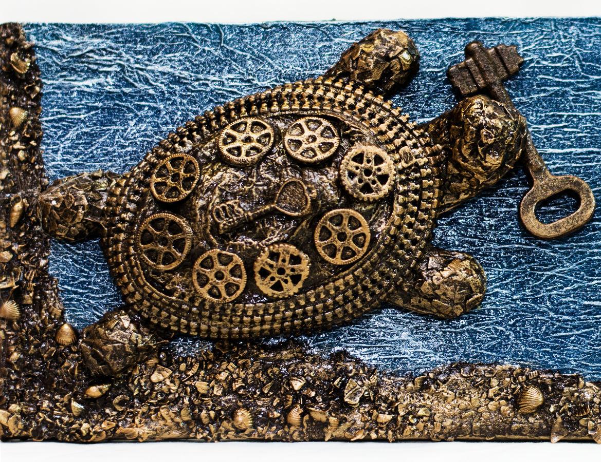Фото 2 - Прикольная черепаха ключница. Подарки ручной работы в Украине.