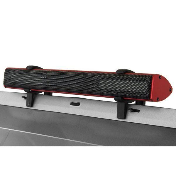 Фото - Колонки Konoos KNS-PU20, 2,3Вт, пластик, чёрные с красным, 2.0
