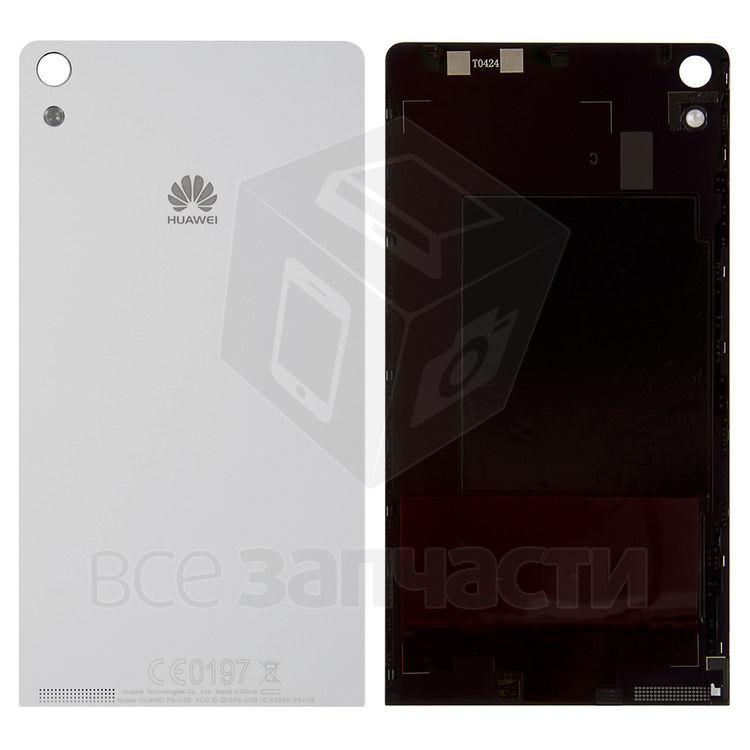 Фото - Задняя панель корпуса для  телефона Huawei Ascend P6-U06, белая