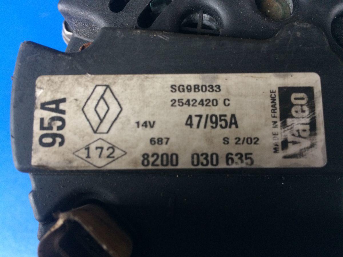 Фото 3 - генератор 8200030635 Renault Kangoo Clio Megane Sandero 95A
