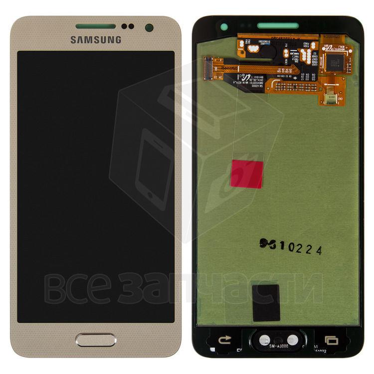 Фото - Дисплейный модуль Samsung A300F Galaxy A3, A300FU Galaxy A3,золотистый