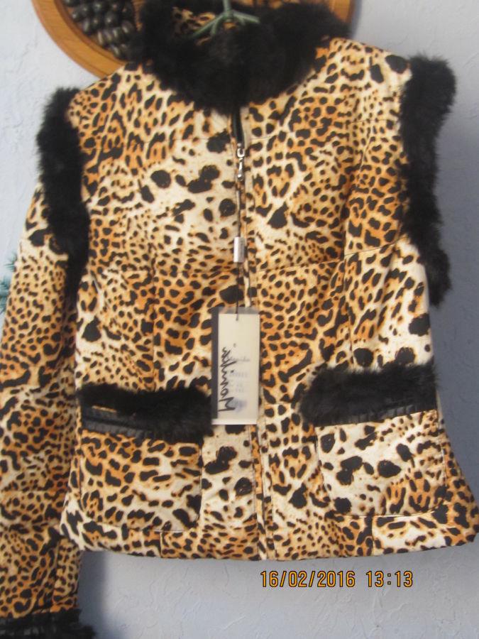 Фото 3 - Куртка 2 в 1 Тигровый принт