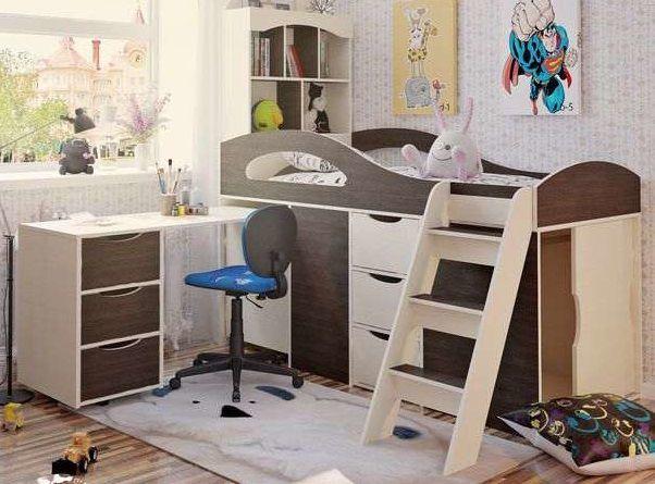 Фото 6 - Кровать двухъярусная + Стол письменный