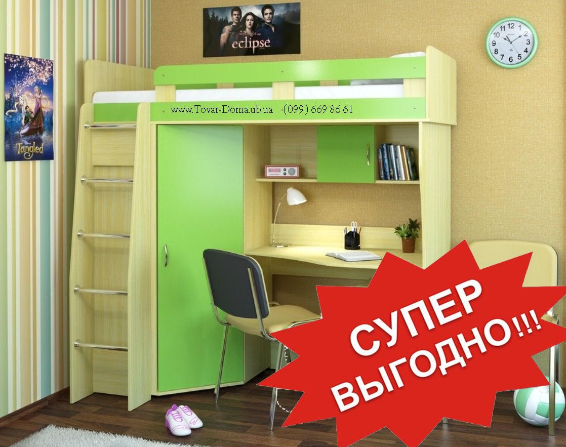 Фото - Кровать двухъярусная + Стол письменный + Шкаф