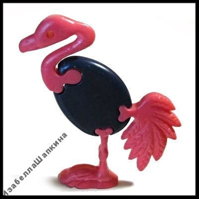 Фото 2 - Киндер игрушки. Птицы-пазлы. Фламинго