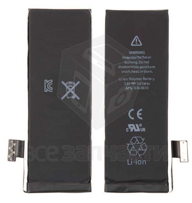 Фото - Батарея  телефона Apple iPhone 5, (Li-ion 3.8V 1440мАч), 616-0611