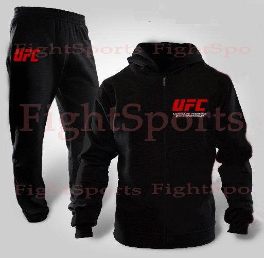Фото 2 - Спортивный костюм UFC BLACK NEW (на молнии) - оплата при получении!