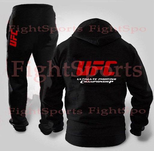 Фото - Спортивный костюм UFC BLACK NEW (на молнии) - оплата при получении!