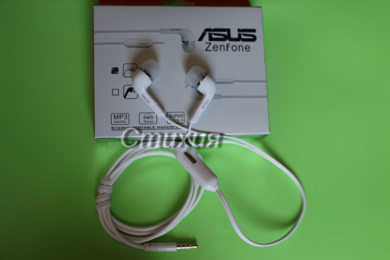 Фото - Наушники с микрофоном Asus(белые,черные)Отличное качество звука!