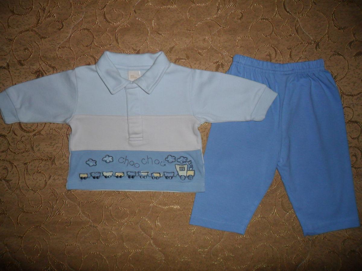 Фото 2 - Симпатичный костюмчик на малыша 3-6мес.-кофта и штаны