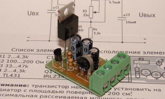 Фото - Регулируемый стабилизатор напряжения 3-27В 10А