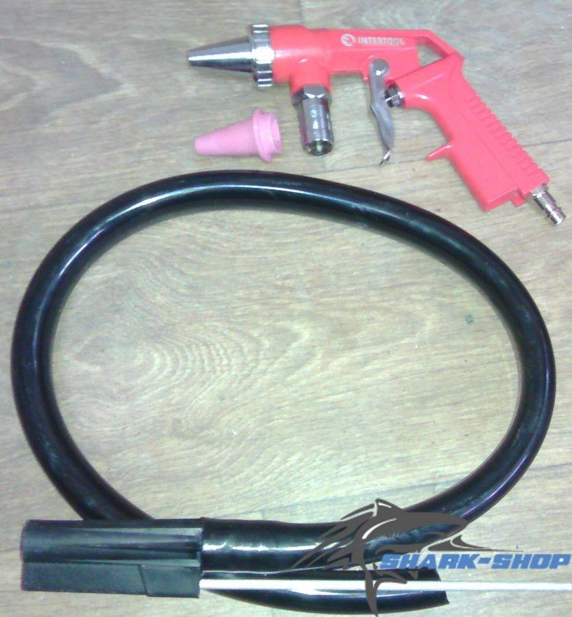 Фото 2 - Пистолет пескоструйный пневматический со шлангом