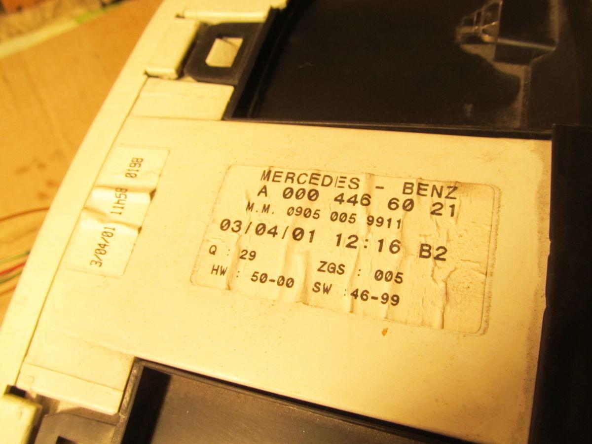 Фото 4 - Панель приборов щиток Mercedes Vito 638. 99/03 (CDI) 108/110/112