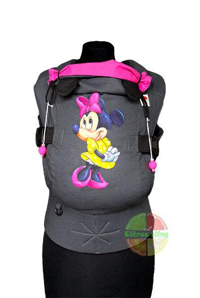 Фото 5 - Эрго-рюкзаки Citrus sling  с ушками  и рисунком ручной работы