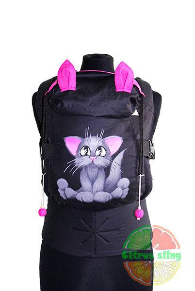 Фото 3 - Эрго-рюкзаки Citrus sling  с ушками  и рисунком ручной работы