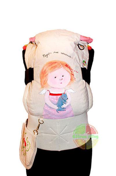 Фото 2 - Эрго-рюкзаки Citrus sling  с ушками  и рисунком ручной работы