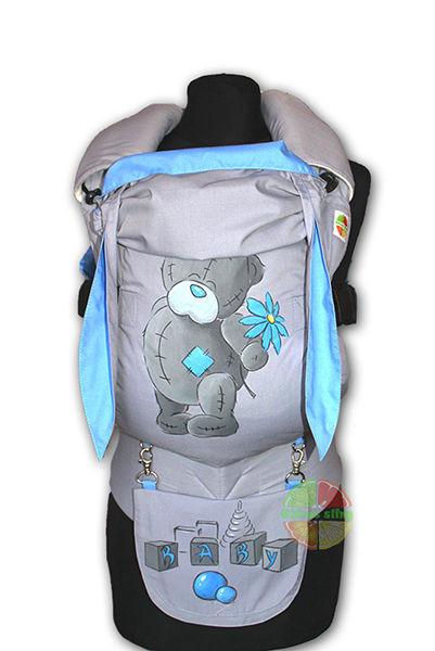 Фото 6 - Эрго-рюкзаки Citrus sling  с ушками  и рисунком ручной работы