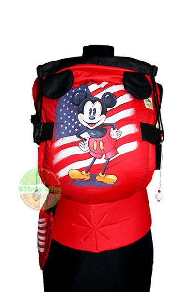 Фото 8 - Эрго-рюкзаки Citrus sling  с ушками  и рисунком ручной работы